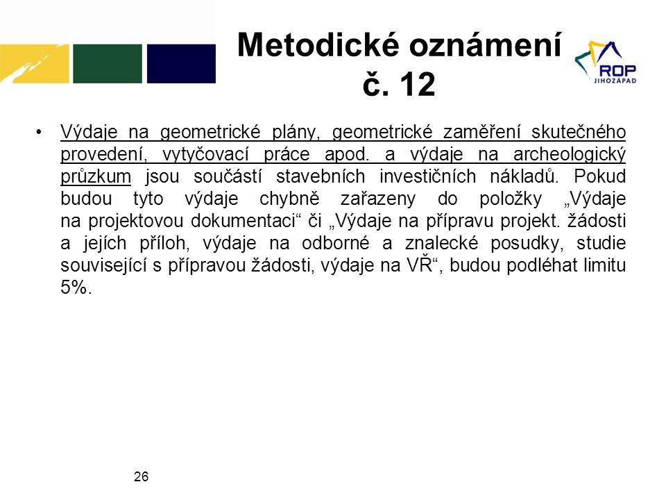 Metodické oznámení č. 12