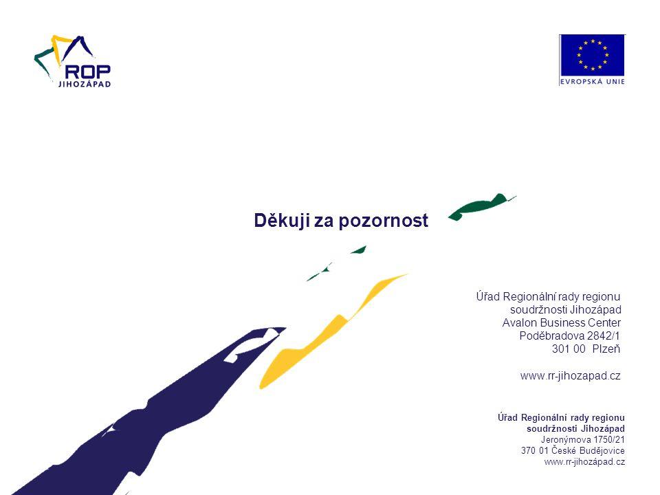 6.4.2017 Úřad Regionální rady regionu soudržnosti Jihozápad Avalon Business Center Poděbradova 2842/1 301 00 Plzeň www.rr-jihozapad.cz.