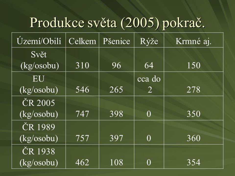 Produkce světa (2005) pokrač.