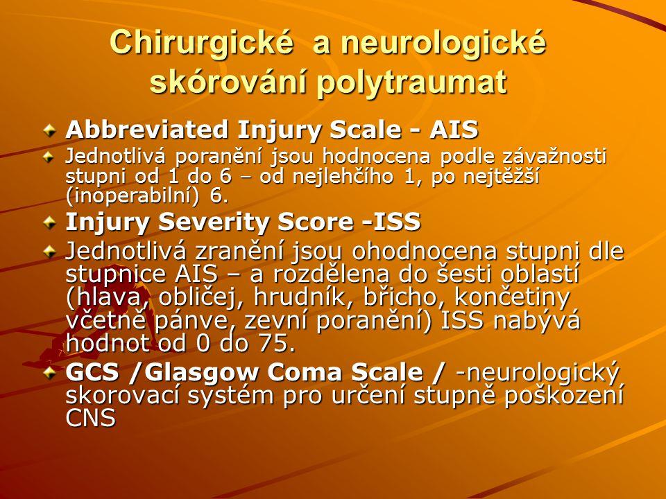 Chirurgické a neurologické skórování polytraumat