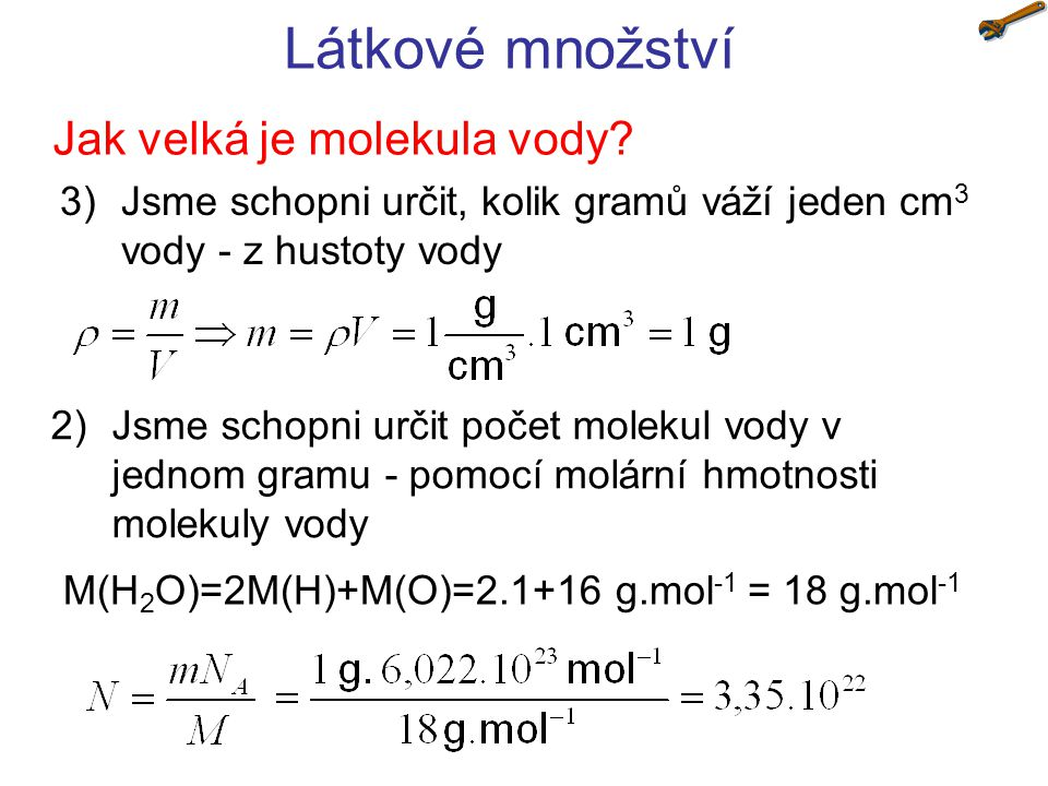 Jak velká je molekula vody