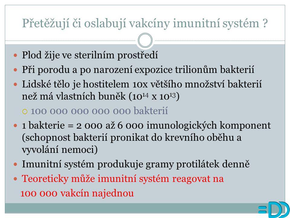 Přetěžují či oslabují vakcíny imunitní systém