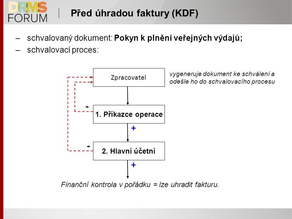 Před úhradou faktury (KDF)