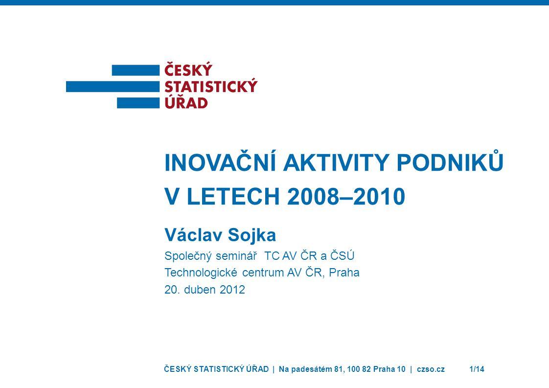 Inovační aktivity podniků v letech 2008–2010
