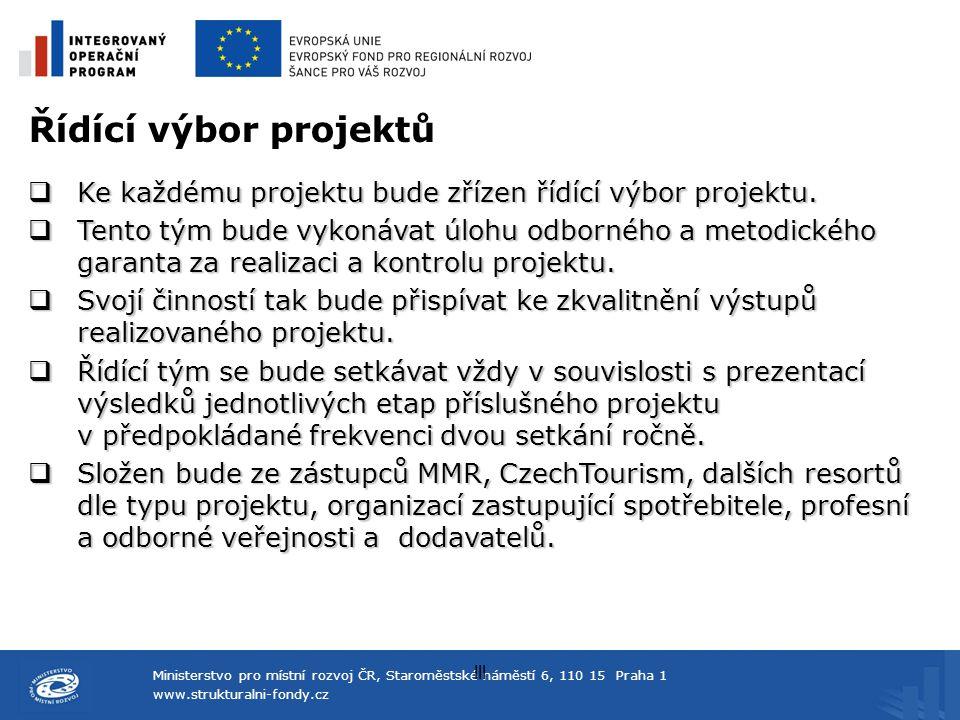 Řídící výbor projektů Ke každému projektu bude zřízen řídící výbor projektu.