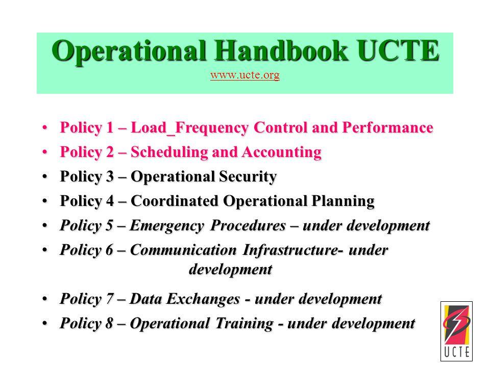 Operational Handbook UCTE www.ucte.org
