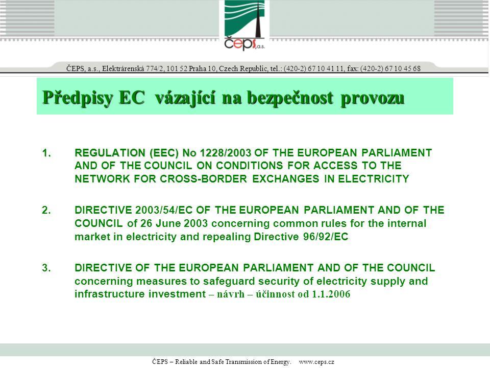 Předpisy EC vázající na bezpečnost provozu