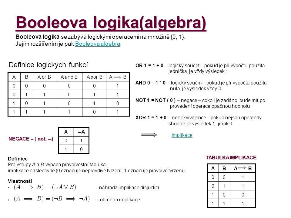 Booleova logika(algebra)