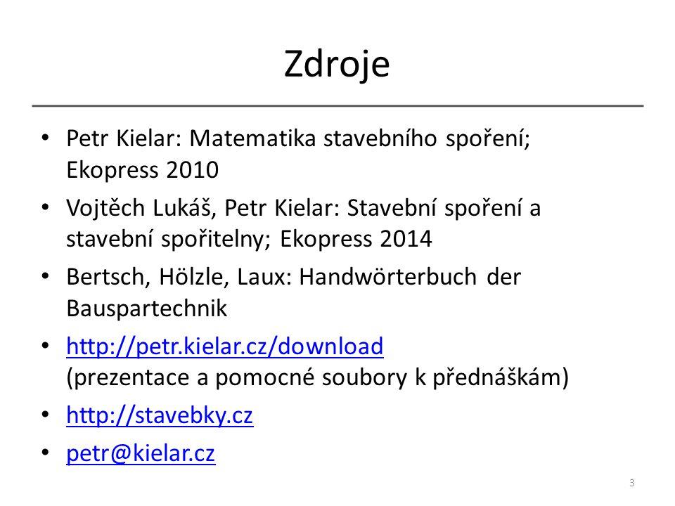 Zdroje Petr Kielar: Matematika stavebního spoření; Ekopress 2010