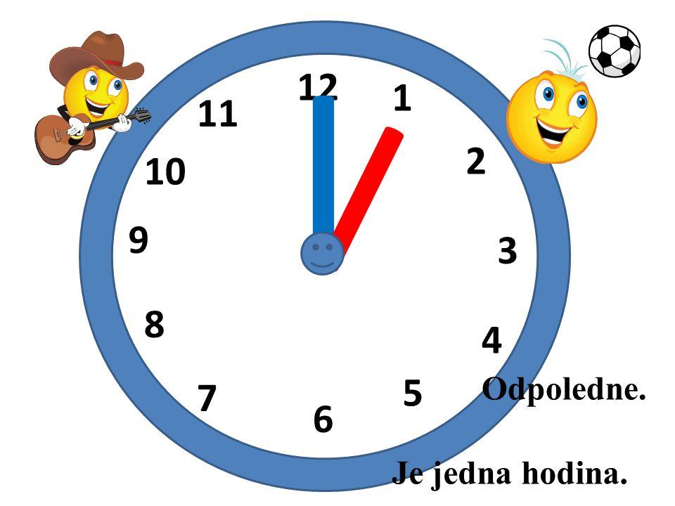 I I 12 1 11 2 10 9 3 8 4 5 Odpoledne. 7 6 Je jedna hodina.