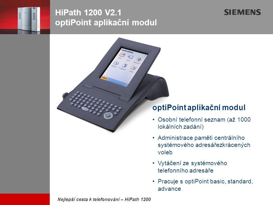 HiPath 1200 V2.1 optiPoint aplikační modul