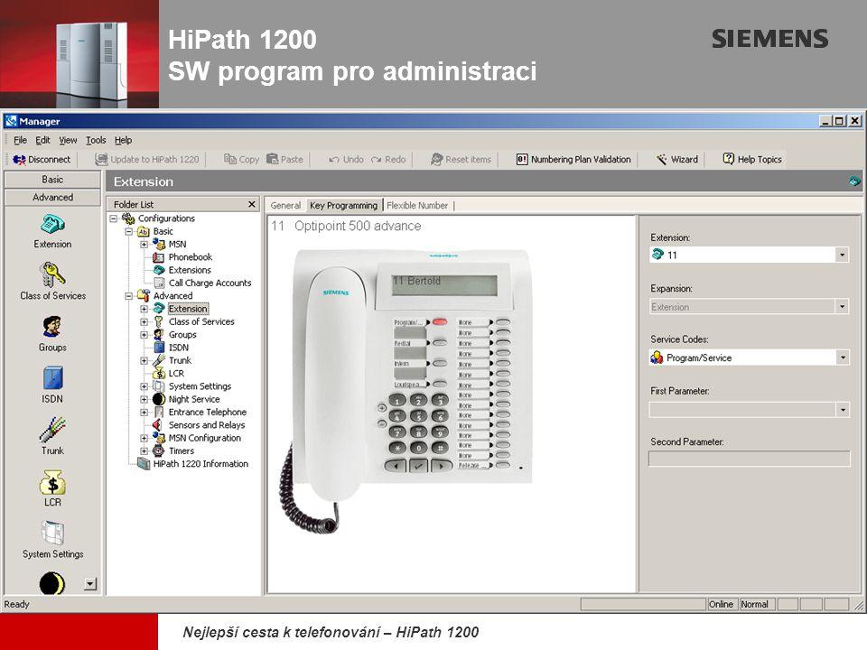 HiPath 1200 SW program pro administraci