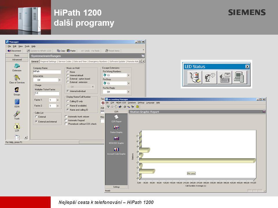 HiPath 1200 další programy