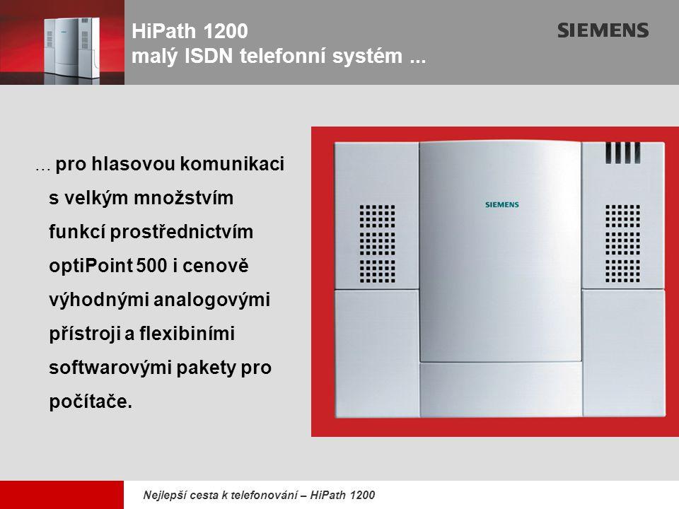 HiPath 1200 malý ISDN telefonní systém ...