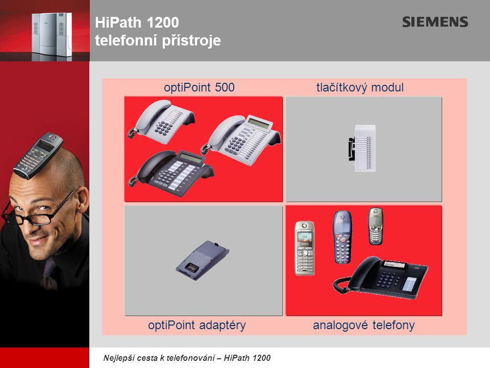 HiPath 1200 telefonní přístroje