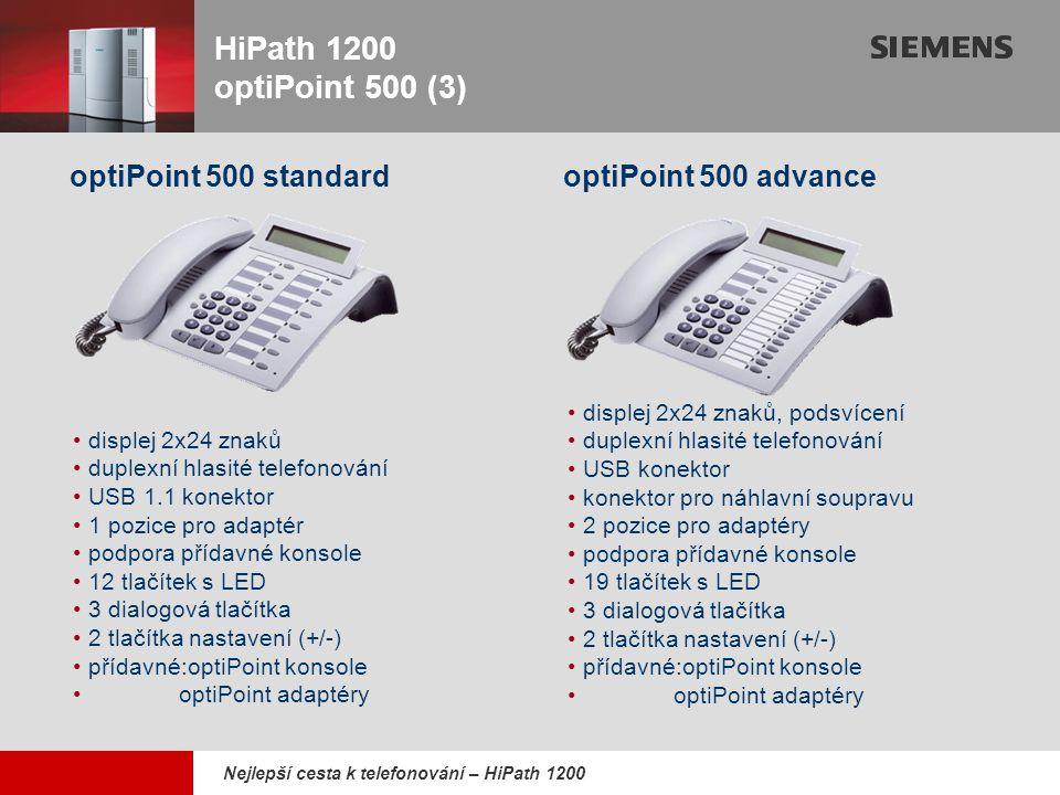 HiPath 1200 optiPoint 500 (3) optiPoint 500 standard