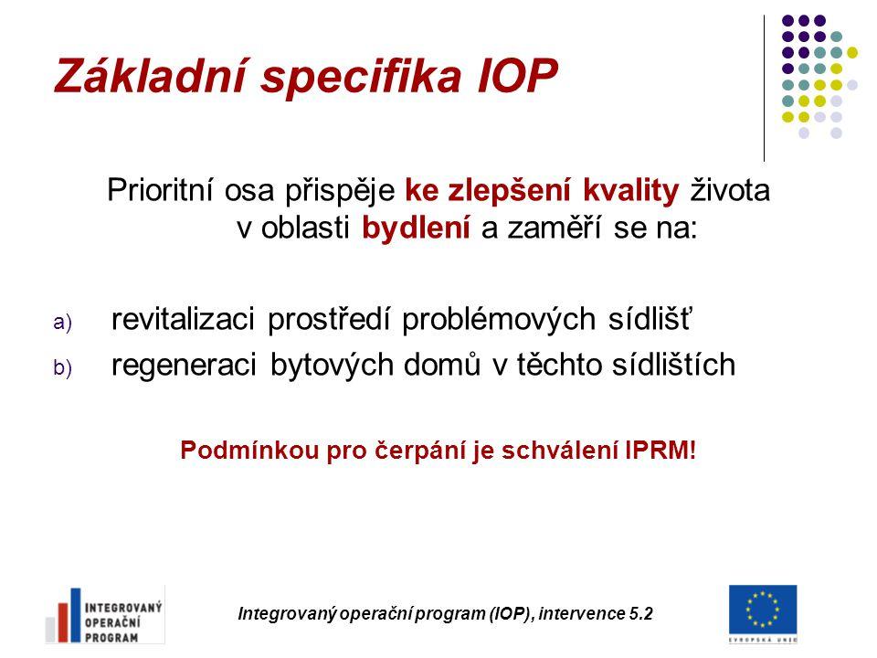 Základní specifika IOP