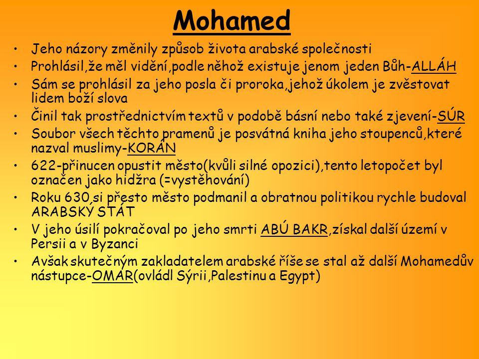Mohamed Jeho názory změnily způsob života arabské společnosti