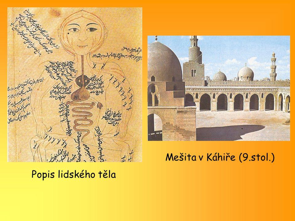 Mešita v Káhiře (9.stol.) Popis lidského těla