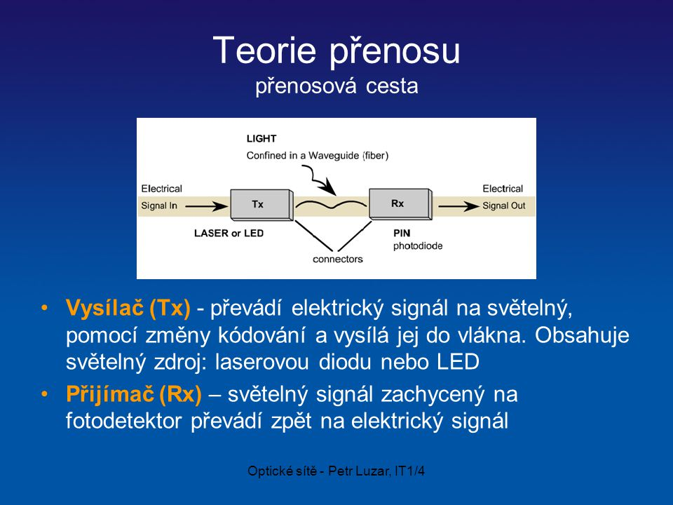 Teorie přenosu přenosová cesta