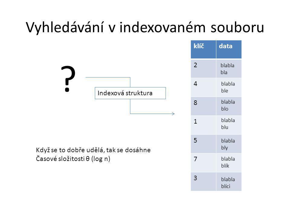Vyhledávání v indexovaném souboru