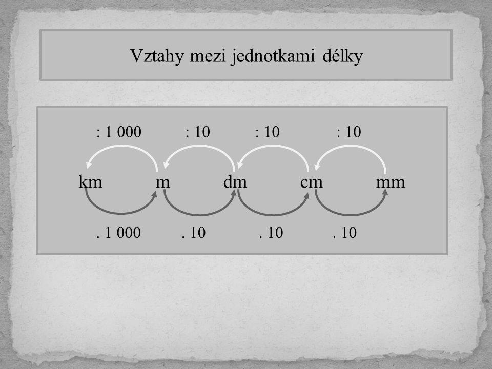 Vztahy mezi jednotkami délky