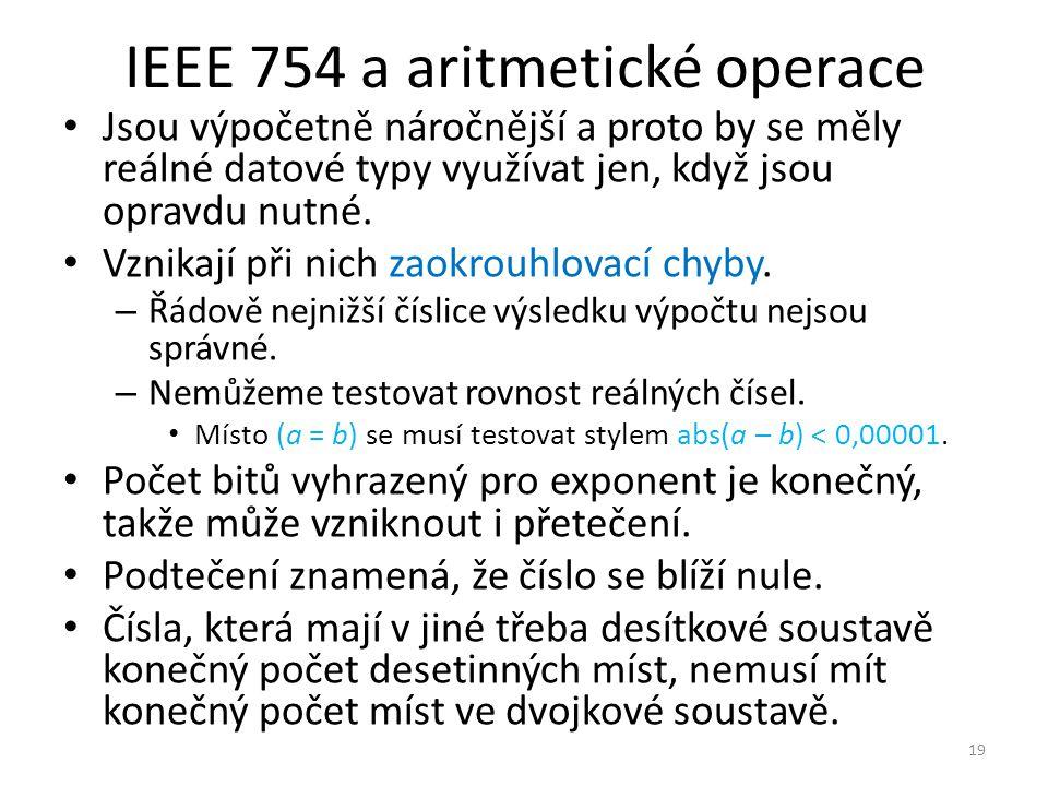 IEEE 754 a aritmetické operace