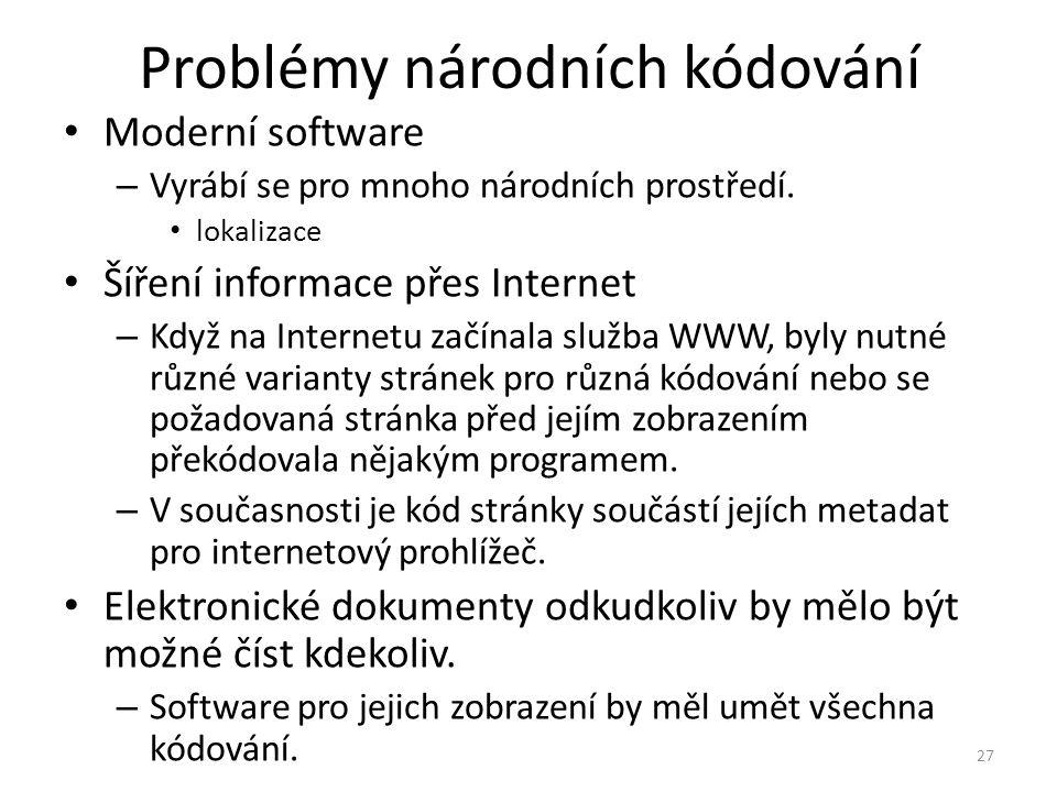 Problémy národních kódování