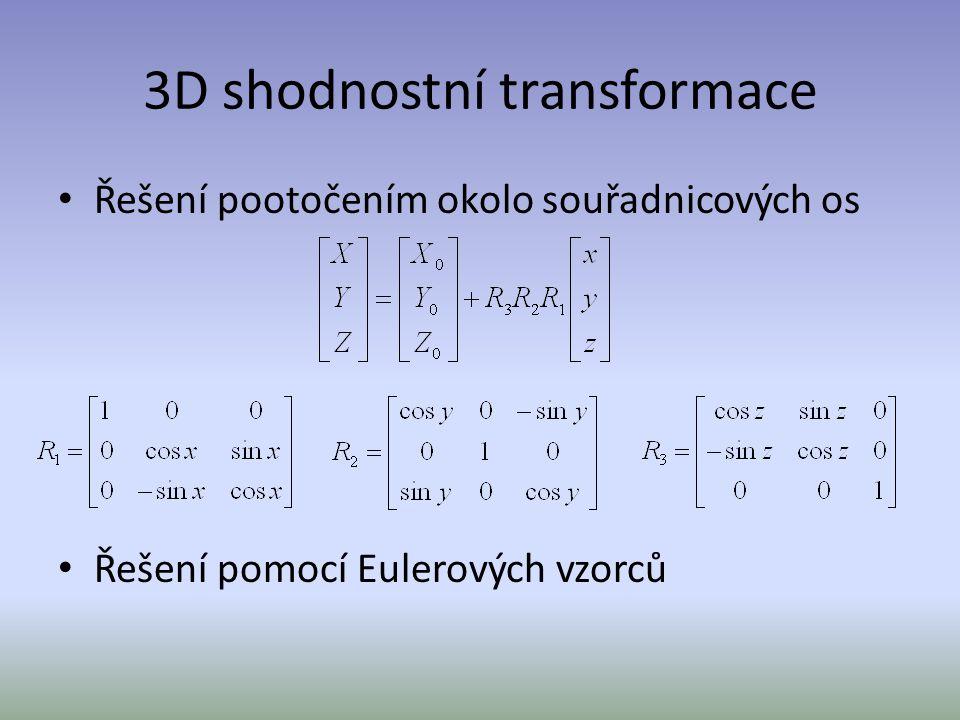 3D shodnostní transformace