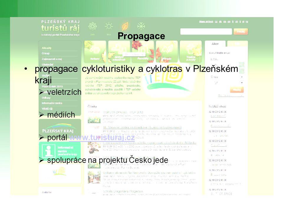 propagace cykloturistiky a cyklotras v Plzeňském kraji