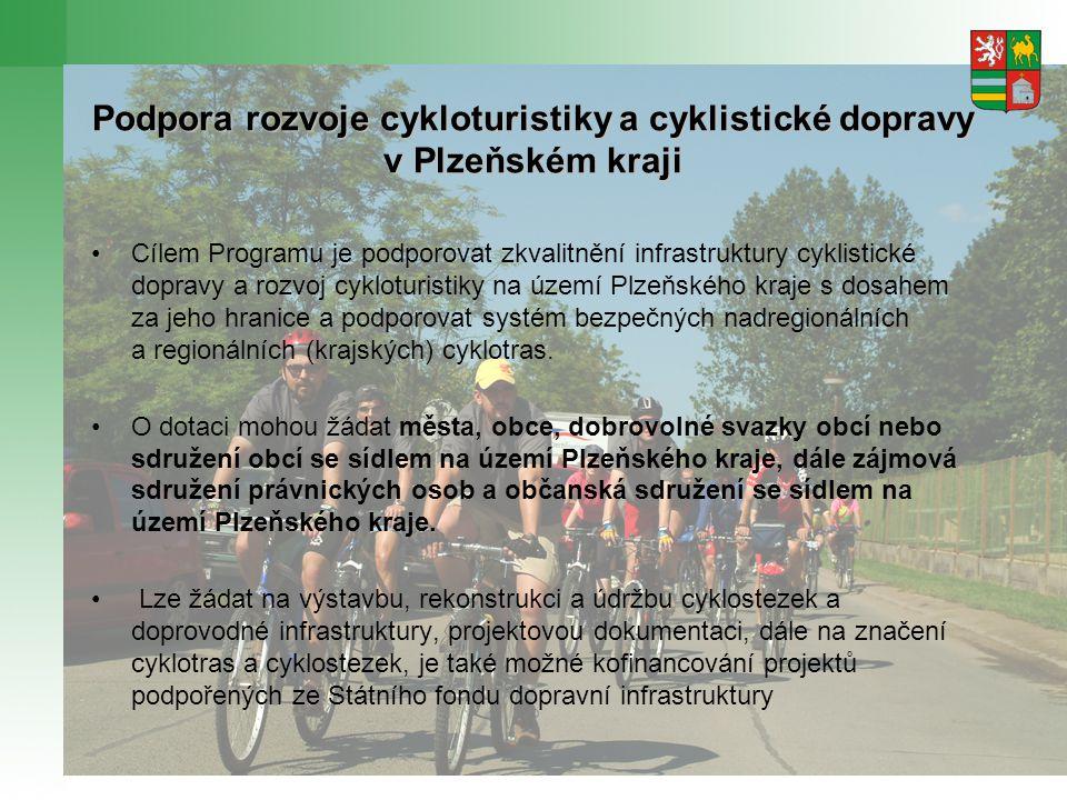 Podpora rozvoje cykloturistiky a cyklistické dopravy v Plzeňském kraji