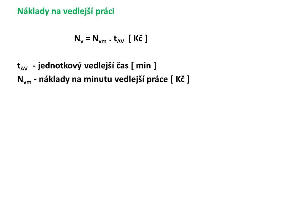 Náklady na vedlejší práci Nv = Nvm