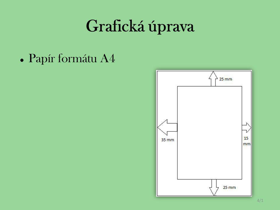 Grafická úprava Papír formátu A4