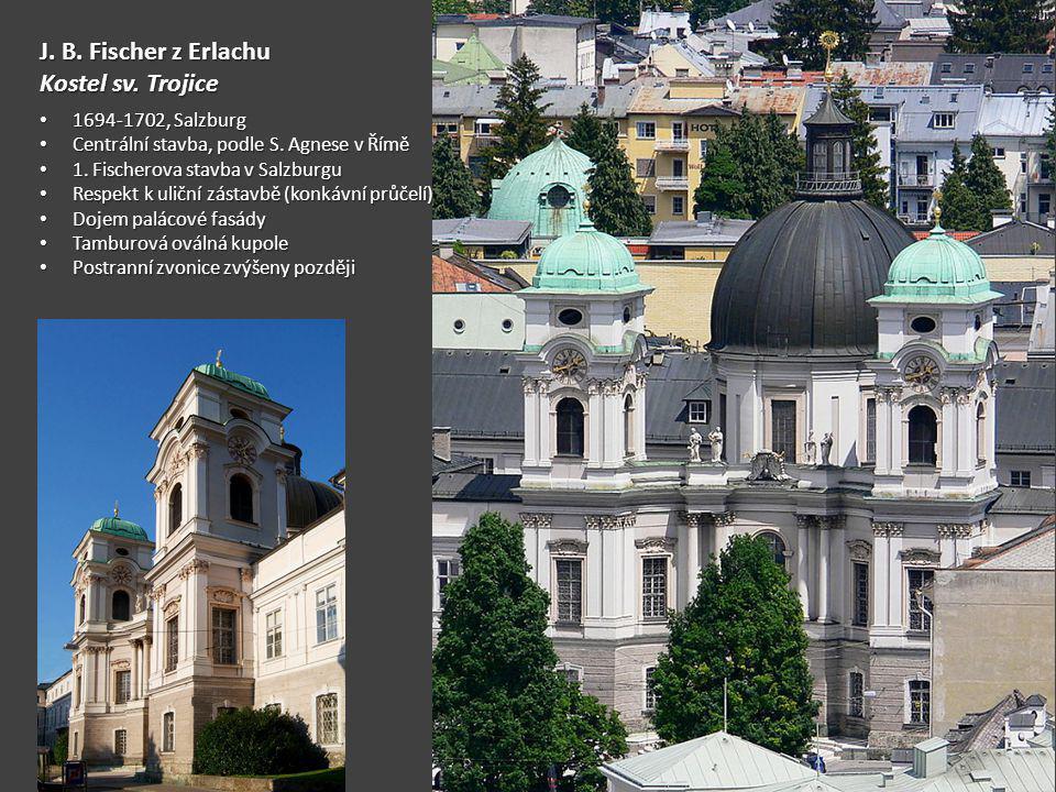 J. B. Fischer z Erlachu Kostel sv. Trojice 1694-1702, Salzburg