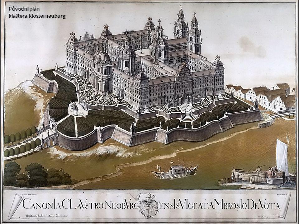 Původní plán kláštera Klosterneuburg