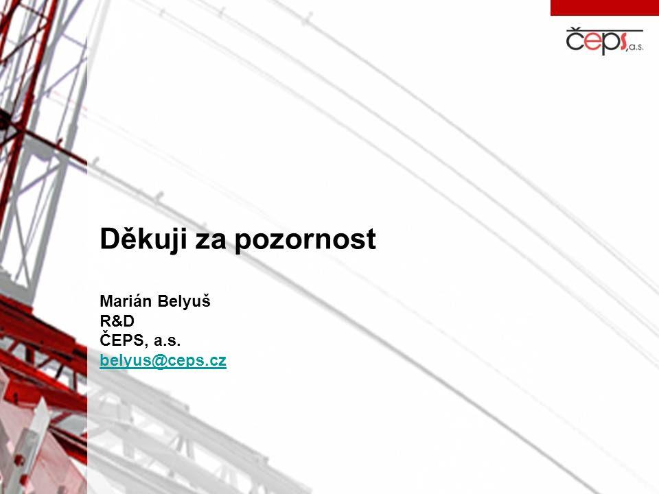 Děkuji za pozornost Marián Belyuš R&D ČEPS, a.s. belyus@ceps.cz