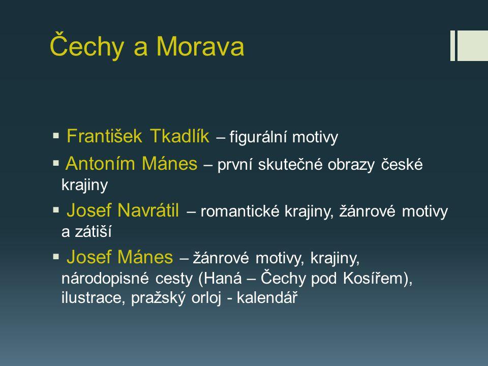 Čechy a Morava František Tkadlík – figurální motivy