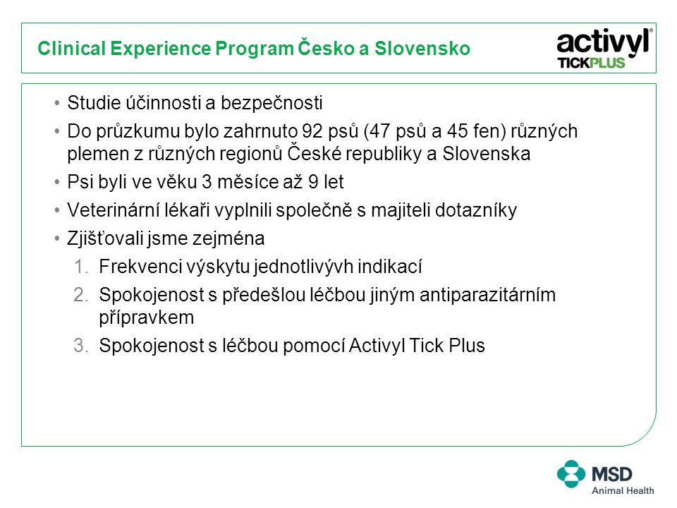 Clinical Experience Program Česko a Slovensko
