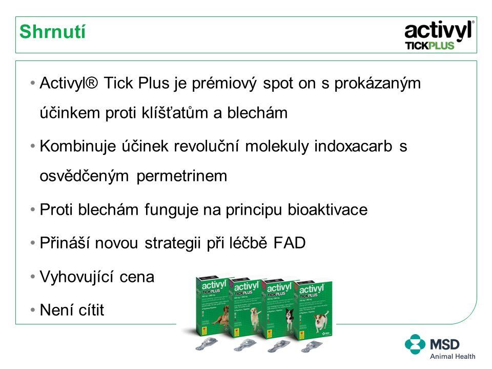 Shrnutí Activyl® Tick Plus je prémiový spot on s prokázaným účinkem proti klíšťatům a blechám.