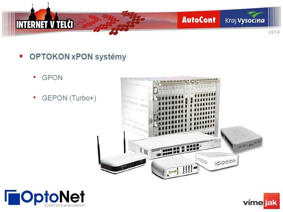 OPTOKON xPON systémy GPON GEPON (Turbo+)