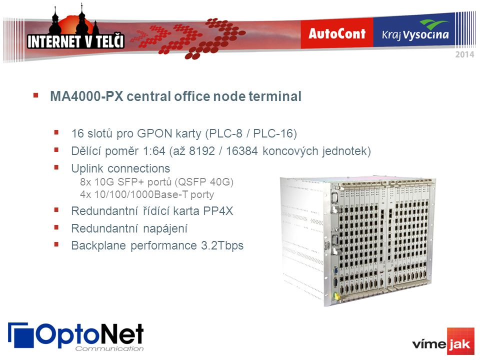 MA4000-PX central office node terminal