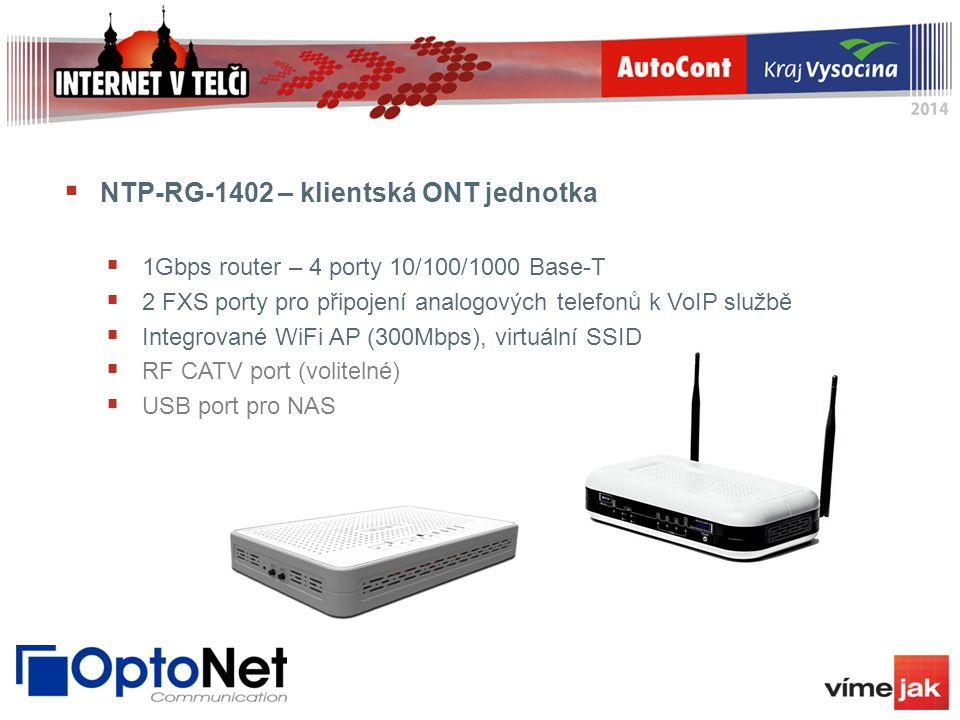 NTP-RG-1402 – klientská ONT jednotka