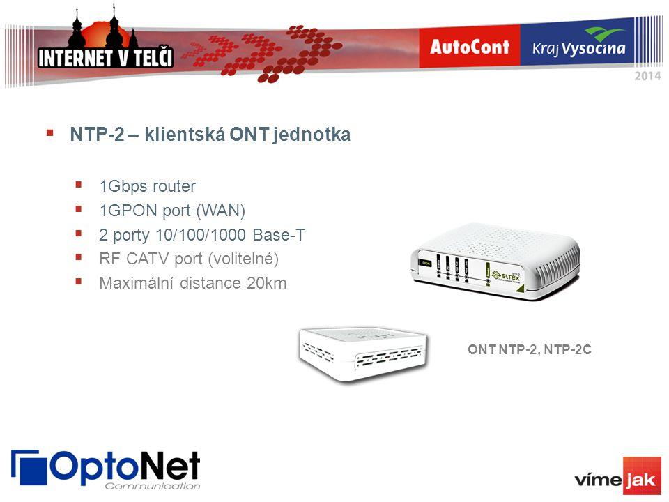NTP-2 – klientská ONT jednotka