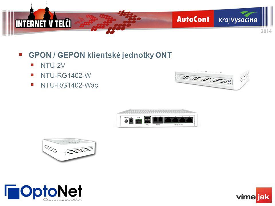 GPON / GEPON klientské jednotky ONT