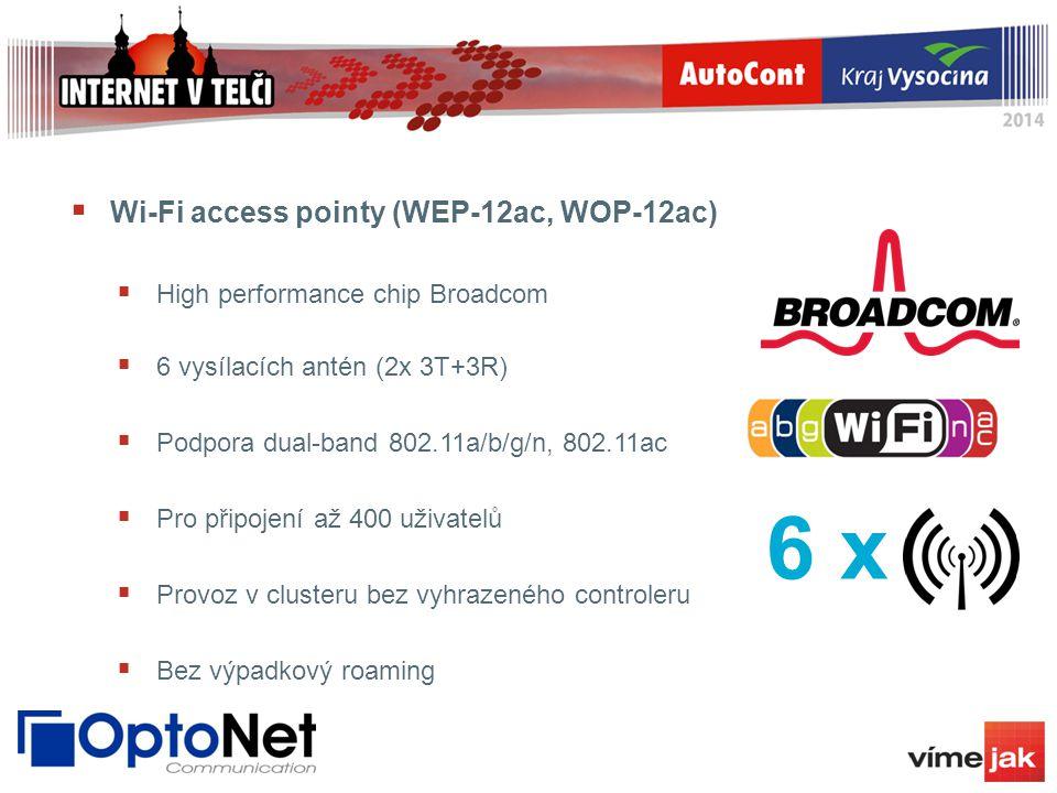 6 х Wi-Fi access pointy (WEP-12ac, WOP-12ac)