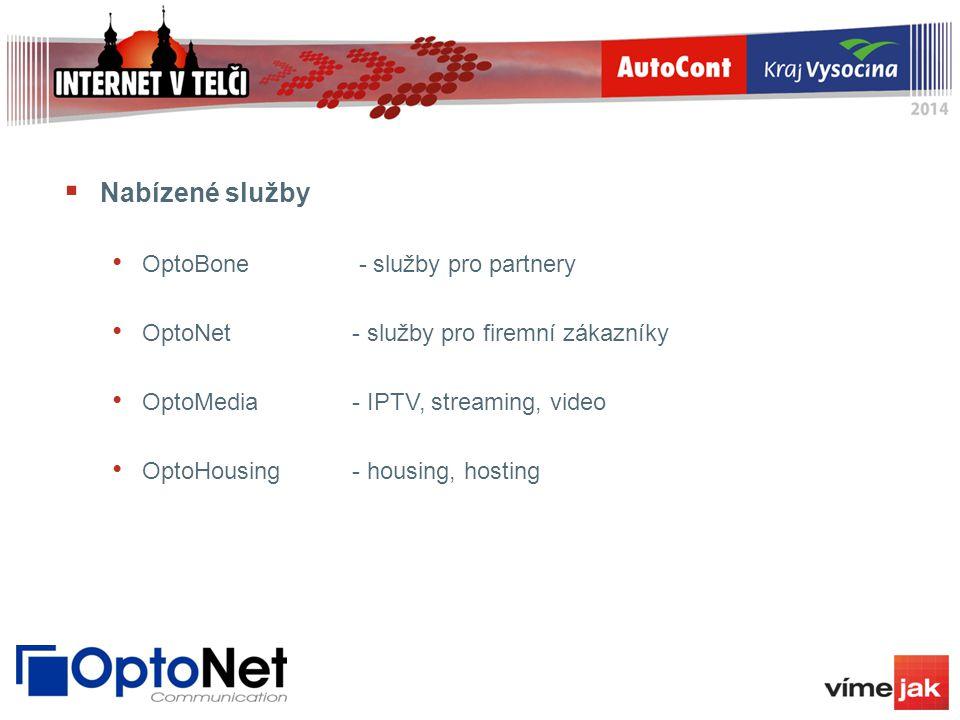 Nabízené služby OptoBone - služby pro partnery