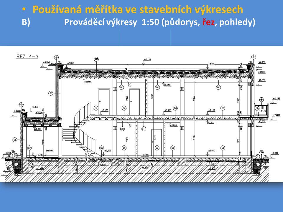 Používaná měřítka ve stavebních výkresech
