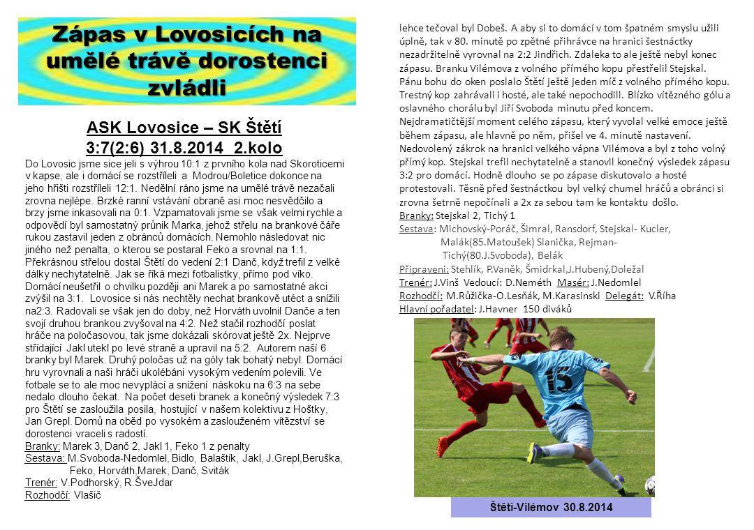 Zápas v Lovosicích na umělé trávě dorostenci zvládli