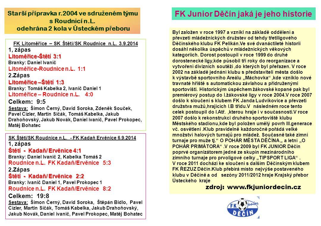 FK Junior Děčín jaká je jeho historie