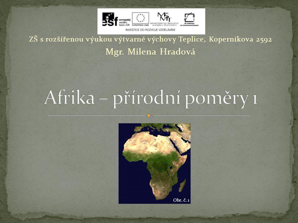 Afrika – přírodní poměry 1